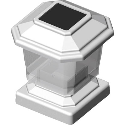 Picture of Deckorators 4 In. x 4 In. White Rechargeable Solar Light