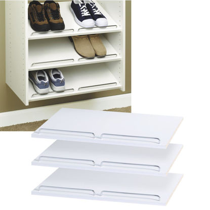 Picture of Easy Track 2 Ft. W. x 14 In. D. Laminated Shoe Shelf, White (3-Pack)