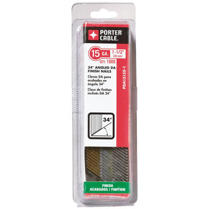 Picture of Bostitch 15-Gauge Bright Basic 34 Degree DA-Style Angled Finish Nail, 1-1/2 In. (4000 Ct.)