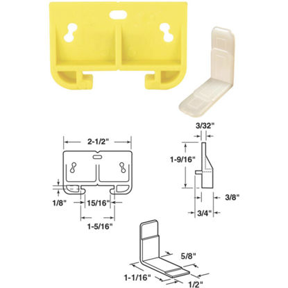 """Picture of SLIDE-CO 1-9/32"""" x 2-1/2"""" Polyethylene Track Guide"""