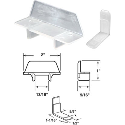 """Picture of SLIDE-CO 13/16"""" x 2"""" Plastic Track Guide"""