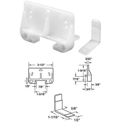 """Picture of SLIDE-CO 1-1/4"""" x 1-15/16"""" Polyethylene Track Guide"""
