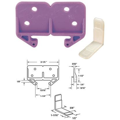 """Picture of SLIDE-CO 1-1/4"""" Polyethylene White Track Guide"""