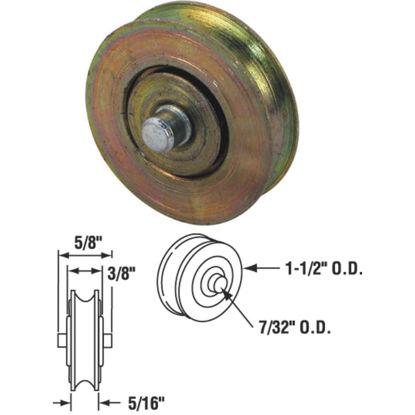 Picture of Slide-Co 1-1/2 In. Steel Patio Door Roller with Built-In Axle (2-Count)