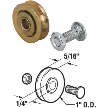 Picture of Slide-Co 1 In. Steel Patio Door Roller Assembly (2-Count)