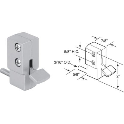 Picture of Defender Security Aluminum Step-On Patio Door Lock