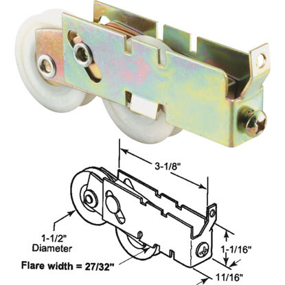Picture of Slide-Co 1-1/2 In. Tandem Screen Door Roller Assembly