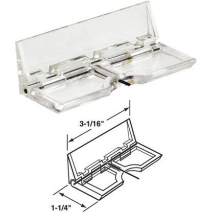 Picture of Defender Security Glass Surface Flip Patio Door Lock (2-Pack)