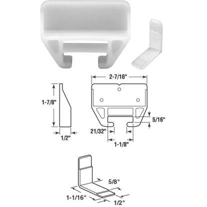 "Picture of SLIDE-CO 1-3/32"" x 1-1/8"" Nylon Track Guide"