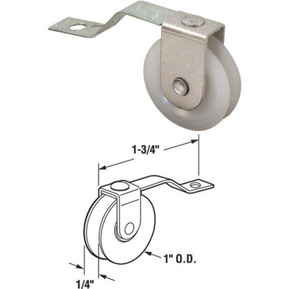 Picture of Slide-Co 1 In. x 1/4 In.nSpring Tension Nylon Screen Door Roller Assembly (2-Count)