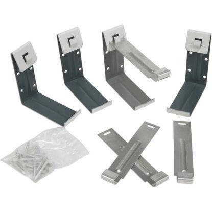 Picture of Amerimax K Style Aluminum White Gutter Hanger Bracket, 4-Pack