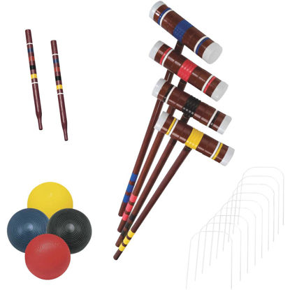 Picture of Franklin 4-Player Croquet Set