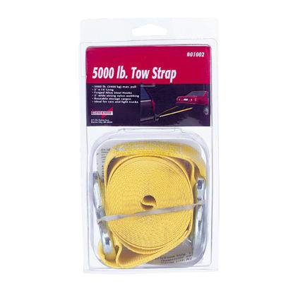 Picture of Erickson 2 In. x 15 Ft. 2500 Lb. Polyester Tow Strap with Hooks, Yellow