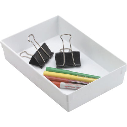 Picture of Rubbermaid 6 In. x 9 In. x 2 In. White Drawer Organizer Tray