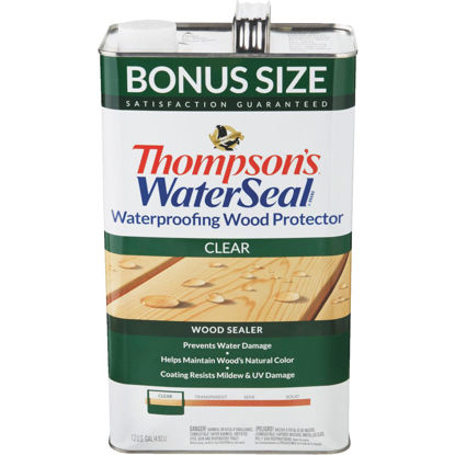 Picture of Thompsons WaterSeal Clear Water-Based VOC Compliant Wood Protector, 1.2 Gal.
