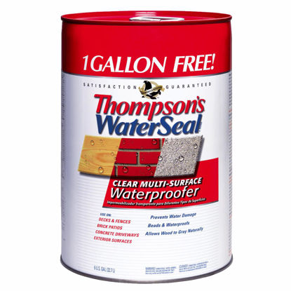 Picture of Thompsons WaterSeal Clear VOC MultiSurface Waterproofing Sealer, 6 Gal.