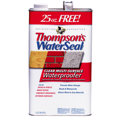 Picture of Thompsons WaterSeal Clear VOC MultiSurface Waterproofing Sealer, 1.2 Gal.