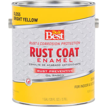Picture of Do it Best Rust Coat Oil-Based Gloss Enamel, Bright Yellow, 1 Gal.