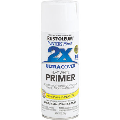 Picture of Rustoleum Painter's Touch 2X Ultra Cover White Spray Paint Primer