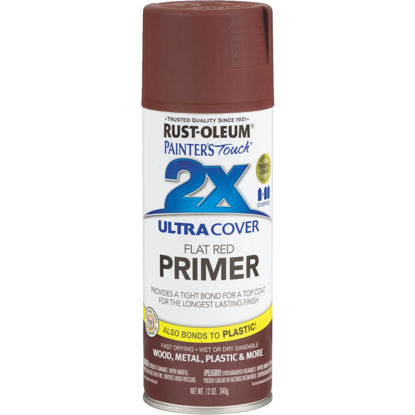 Picture of Rustoleum Painter's Touch 2X Ultra Cover Flat Red Spray Paint Primer