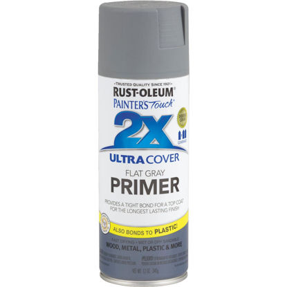 Picture of Rustoleum Painter's Touch 2X Ultra Cover Flat Gray Spray Paint Primer