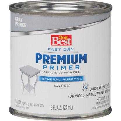 Picture of Do it Best Premium Latex Interior/Exterior Primer, Gray, 1/2 Pt.