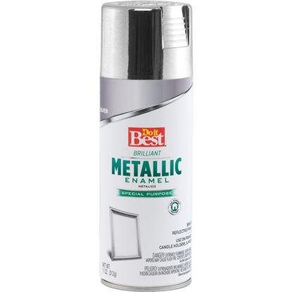 Picture of Do it Best 11 Oz. Metallic Satin Enamel Spray Paint, Silver