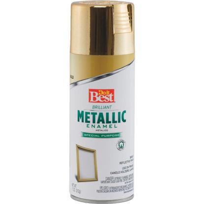 Picture of Do it Best 11 Oz. Metallic Satin Enamel Spray Paint, Gold