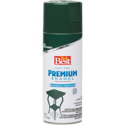 Picture of Do it Best Premium Enamel 12 Oz. Gloss Spray Paint, Hunter Green