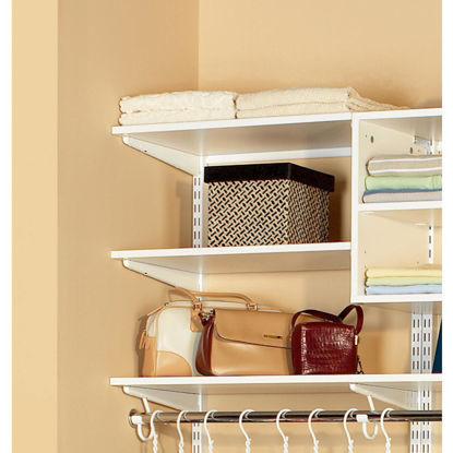 Picture of Organized Living FreedomRail 4 Ft. W. x 14 In. D Melamine Closet Shelf, White