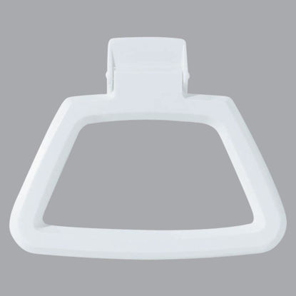 Picture of Homz White Polystyrene Towel Ring