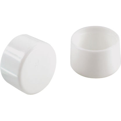 Picture of Do it 1 In. White Round Plastic Replacement Patio Furniture Cap (4-Pack)