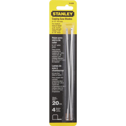 Picture of Stanley 6-1/2 In. 20 TPI Coping Saw Blade (4-Pack)