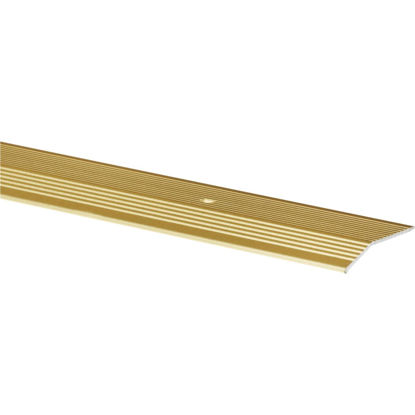 Picture of Do it Satin Gold Fluted 2 In. x 6 Ft. Aluminum Carpet Trim Bar, Extra Wide