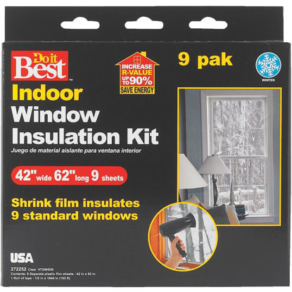 Picture of Do it Best 42 In. x 62 In. Indoor Shrink Film Window Kit, (9-Pack)
