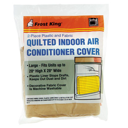 """Picture of Frost King 20"""" x 28"""" Rectangle Beige Air Conditioner Cover"""