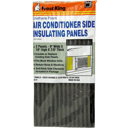 Picture of Frost King 9 In. W. x 18 In. H. Charcoal Side Air Conditioner Insulating Panel (2-Pack)