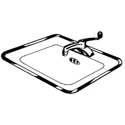 Picture of Vance Ardee 32 In. W x 21 In. D Stainless Steel Sink Frame