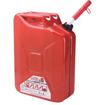 Picture of Midwest Can 5 Gal. Steel Gasoline Jerry Fuel Can, Red