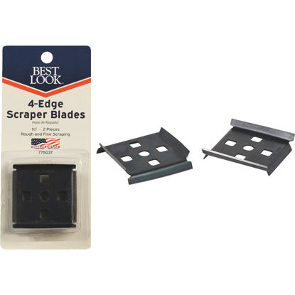 Picture of Best Look 1-1/2 In. 4-Edge Replacement Scraper Blade (2-Pack)