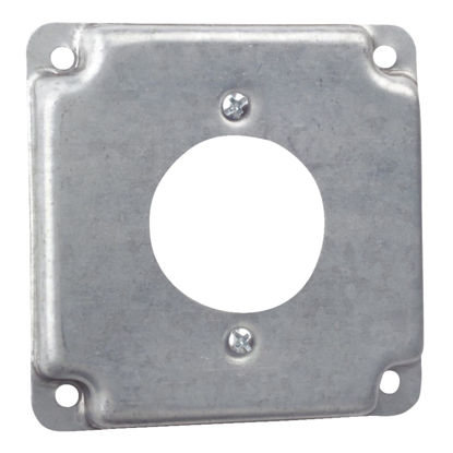 Picture of Steel City 1.719 In. Dia. Receptacle 4 In. x 4 In. Square Device Cover