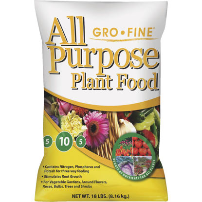 Picture of Gro-Fine 18 Lb. 5-10-5 All Purpose Dry Plant Food