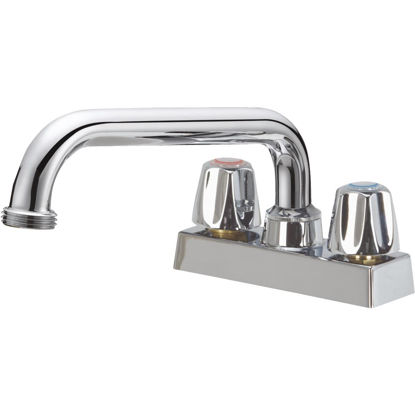 Picture of Home Impressions Chrome 4 In. Center Solid Brass, Metal Handle Laundry Faucet