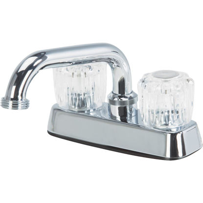 Picture of Home Impressions Chrome 4 In. Installation Solid Brass, Acrylic Handle Laundry Faucet