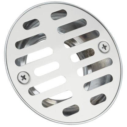 Picture of Do it 1-1/2 In. Cast Brass Shower Drain with 3-1/2 In. Stainless Steel Strainer