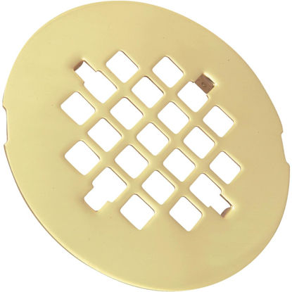 Picture of Do it 4-1/4 In. Polished Brass Snap-In Shower Drain Strainer