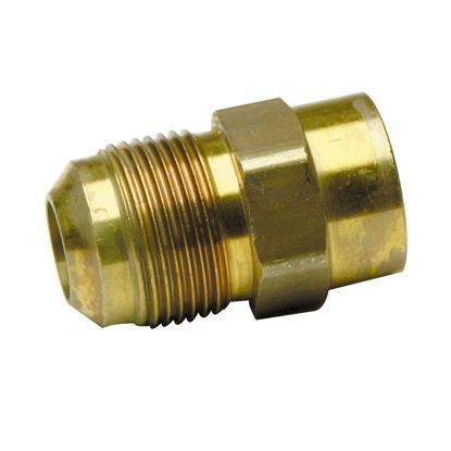 Picture of BrassCraft 5/8 In. OD Flare (15/16-16 Thread) x 1/2 In. FIP Brass Gas Fitting, Bulk