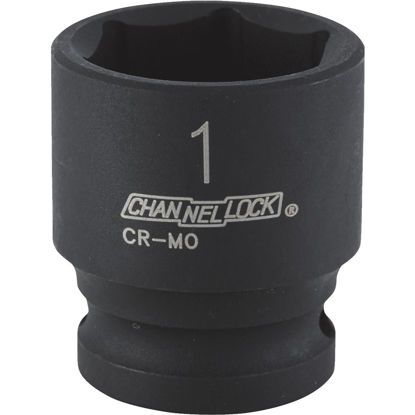 Picture of Channellock 1/2 In. Drive 1 In. 6-Point Shallow Standard Impact Socket