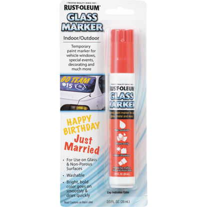 Picture of Rust-Oleum 2/3 Oz. Red Window Paint Marker