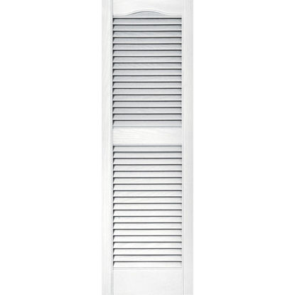 Picture of Builders Edge 15 In. x 48 In. Vinyl Louvered Shutter, (2-Pack)